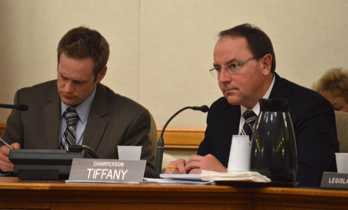 State Sen. Tom Tiffany, R-Hazelhurst, said at a Monday legislative hearing that he wants to prevent local governments from changing local regulations in ways that hurt existing and permitted nonmetallic mines.