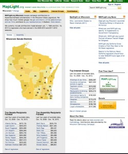MAPLight.org's new Wisconsin site