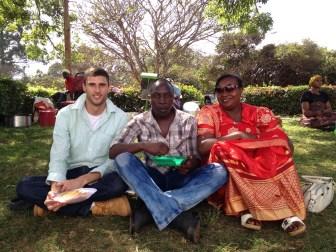 Jacob Kushner, Center former intern, on a lunch break at a Nubian cultural festival in Kenya, fall 2013. Courtesy of Jacob Kushner