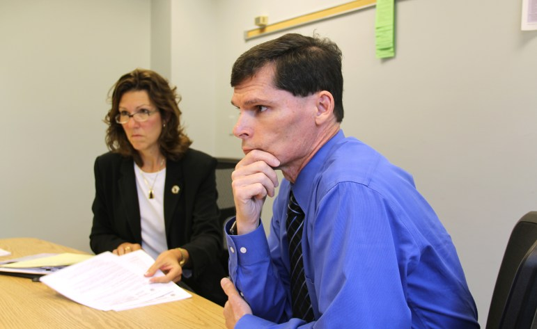 """Cathy Jess, administrator of the Department of Corrections' Division of Adult Institutions, and Dr. Kevin Kallas, mental health director for the DOC, discuss major changes made to the agency's use of """"restrictive status housing"""" or solitary confinement. Jess said the policy marks a """"culture shift"""" by the department."""