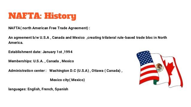 North American Free Trade Agreement (NAFTA) – Wisdom IAS