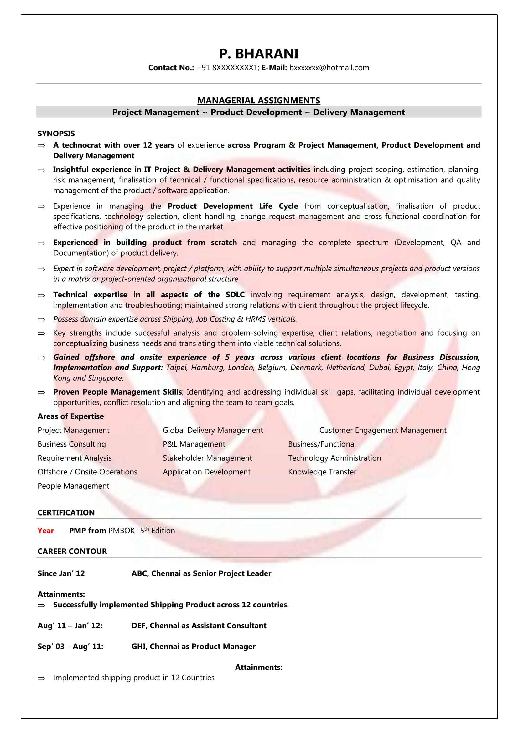 Best Product Manager Resumes Product Manager Sample Resumes Download Resume Format