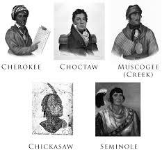 digital history of Native Americans   Five Civilized Tribes