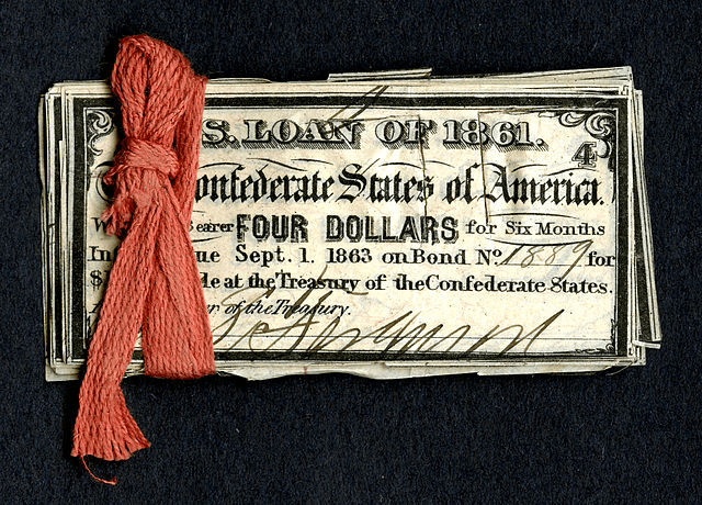 confederacy money and manpower