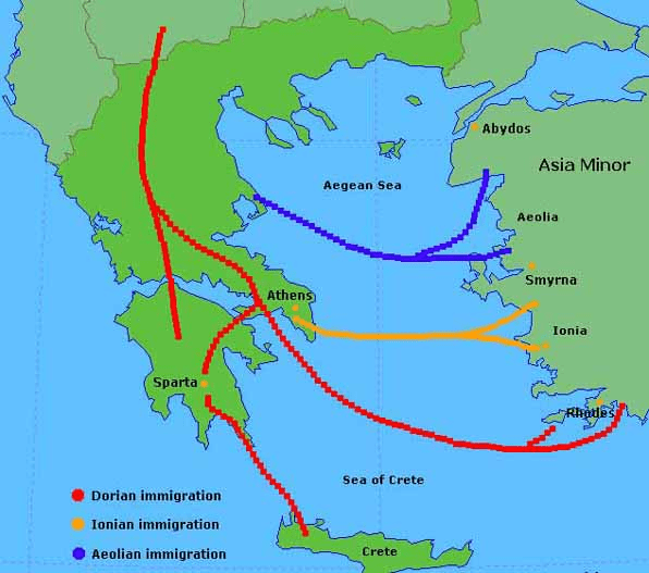 digital history of migration routes in Greece