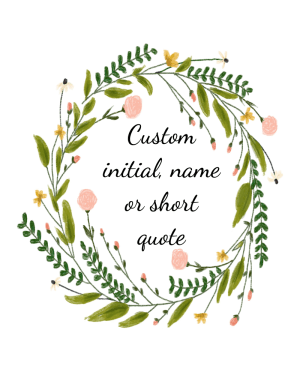 Customized quotes/names