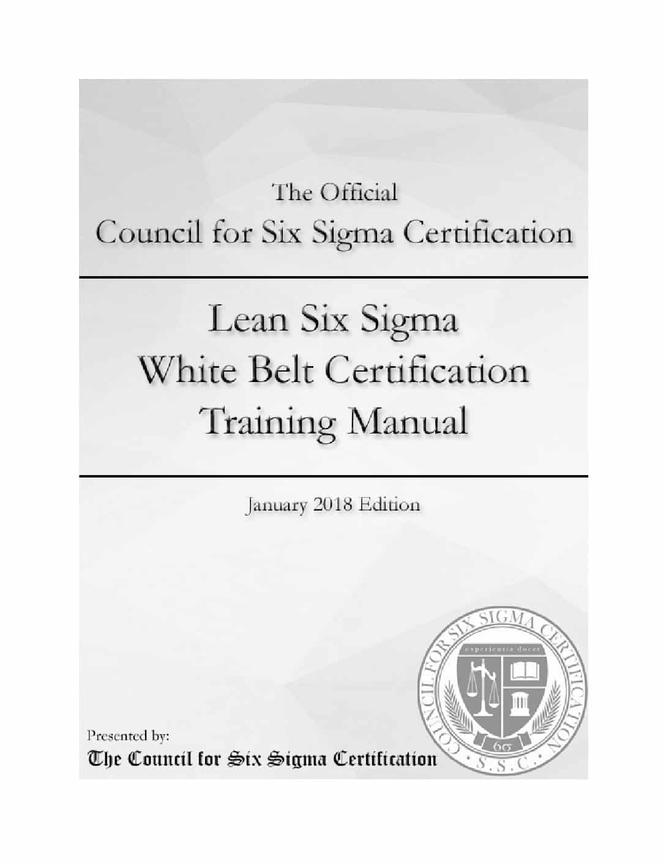Lean Six Sigma White Belt Certification Manual   wiseable
