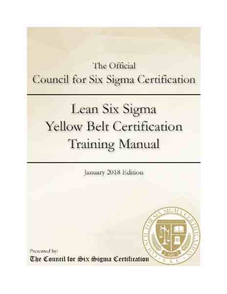 Lean Six-Sigma Yellow Belt Certification Manual | wise:able