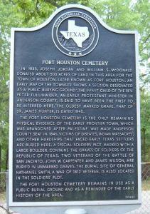 fort houston hist marker