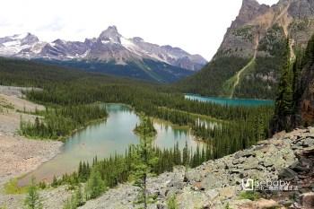 加拿大 Lake O'Hara歐哈拉湖。遺世獨立的洛磯山脈祕境