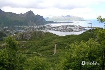挪威   羅浮敦群島步道行程。Tjeldbergtind trail