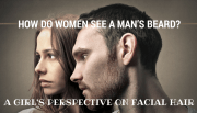 women man beard