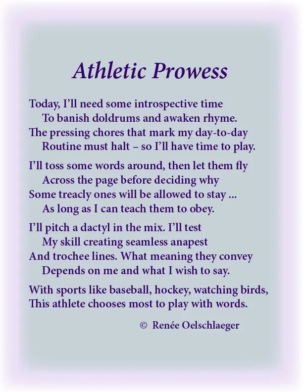 Athletic-Prowess, athletics, writing, athletic prowess, sports, hockey, baseball, sonnet, poetry, light verse