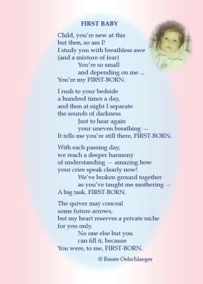 First-Born, first baby, mothering, first child, learning to be a mom, free verse, light verse, poetry, poem