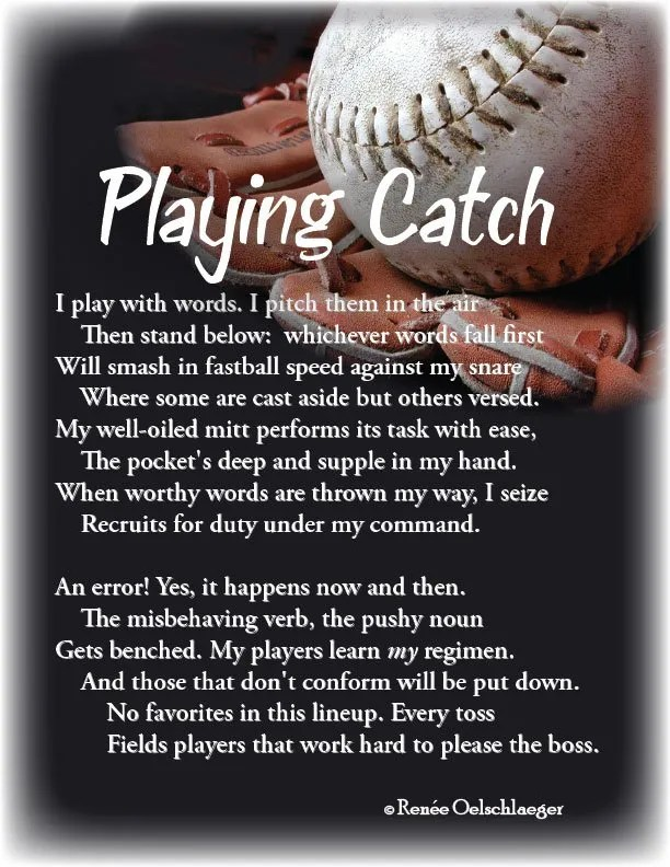 Playing-Catch, baseball, writing, playing catch, sonnet, poetry, poem