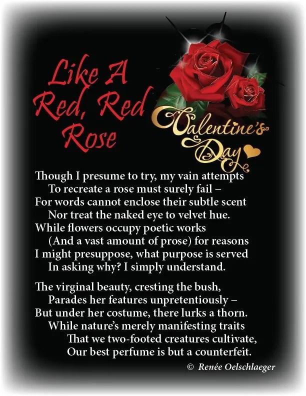 Like-A-Red-Red-Rose, valentine, roses, perfume, Visser sonnet, sonnet, poetry, poem