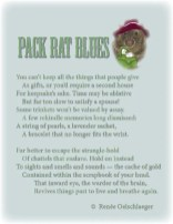 Pack-Rat-Blues, pack rat, cleaning house, remembrance, reminiscence, sonnet, poetry, poem
