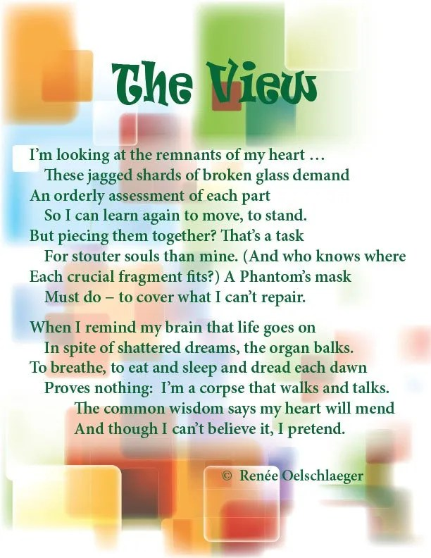 The-View, broken heart, recovery, sonnet, poetry, shattered life, poem