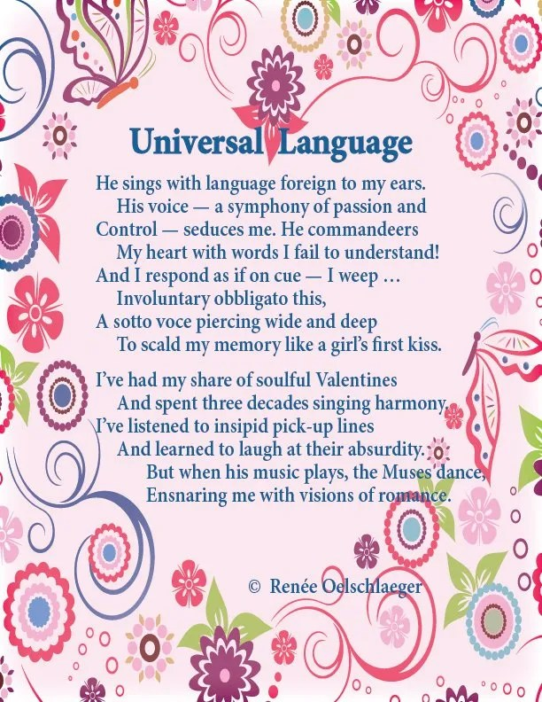 Universal-Language, valentine, love, music, romance, seduction, sonnet, poetry, poem