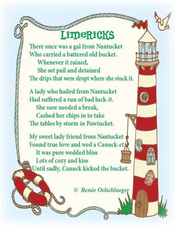 Nantucket-Limericks, limerick, light verse, poetry, poem