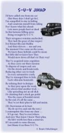 SUV-Jihad, sport utility vehicle, cars, trucks, light verse, poetry, poem