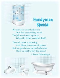 Handyman-Special, bathroom remodel, renovation, light verse, poetry, poem
