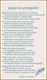 Road-To-Antiquity, aardvark, light verse, poetry, poem