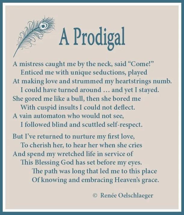 A-Prodigal, sonnet, poetry, poem, seductions of sin, grace