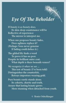 Eye Of The Beholder, beauty, poem, poetry, verse