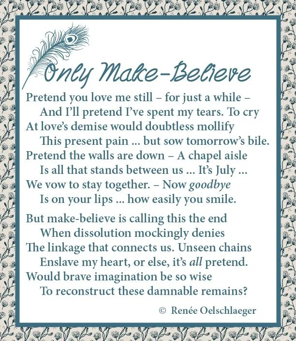 Only Make Believe, sonnet, divorce, poetry, poem