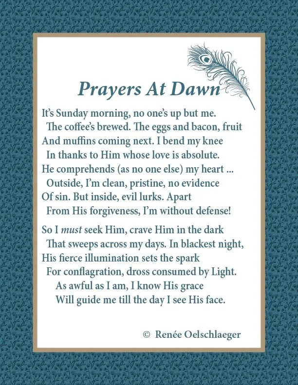 Prayers At Dawn, morning, sonnet, poetry, poem