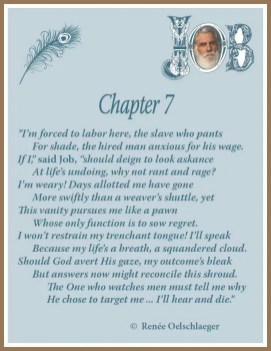 Job, Chapter 7, suffering, sonnet, poem, poetry