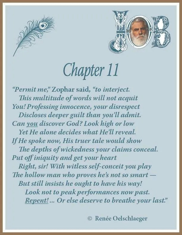 Job Chapter 11, sonnet, Zophar, poetry, poem, Uz