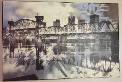 Sketch of bridge outside the hotel