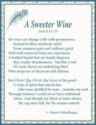 A Sweeter Wine, sonnet, poetry, poem