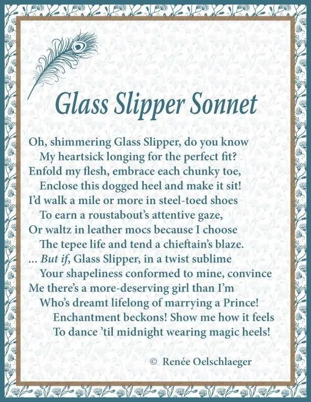 Glass Slipper Sonnet, sonnet, poem, poetry,
