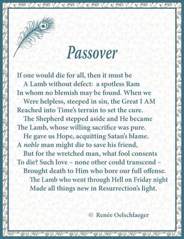 Passover, sonnet, poem, poetry