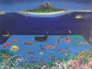 quadro isola bali fondale