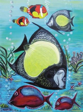 quadro pesci tropicali