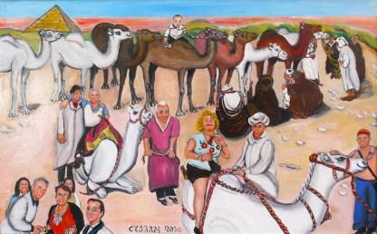 quadro egitto cammelli