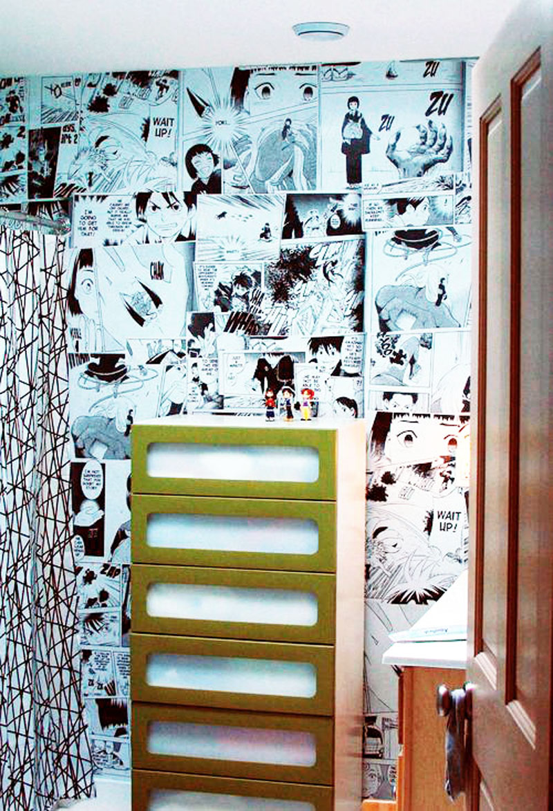 How to make your own anime mural wall wise craft handmade for Create your own wall mural