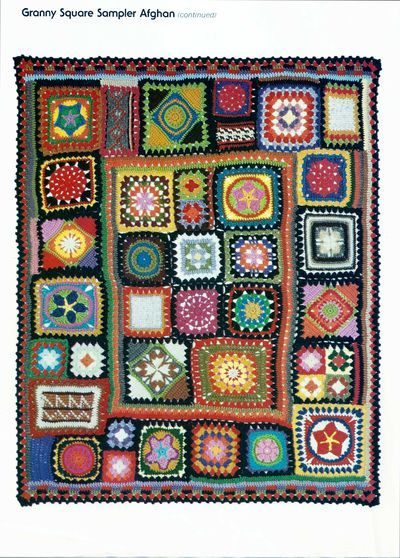 Crocheted Granny Square Sampler Project Wise Craft Handmade