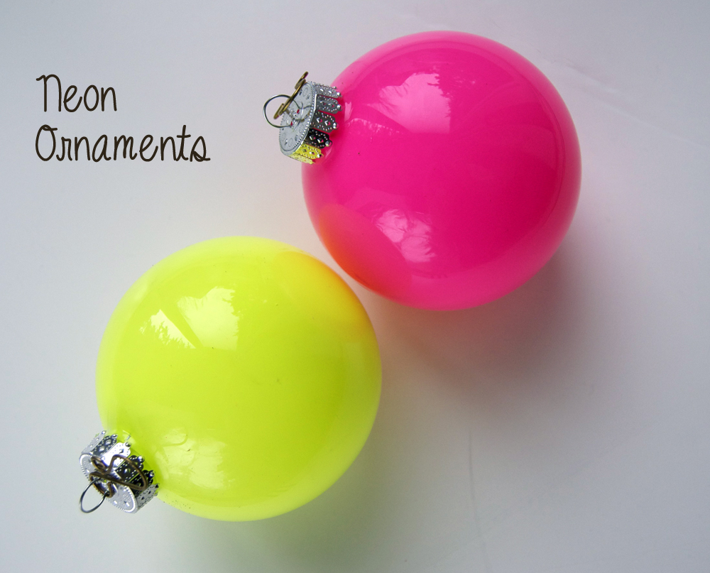 Neon Glass Ornament DIY