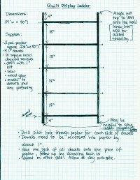DIY Quilt or Blanket Display Ladder