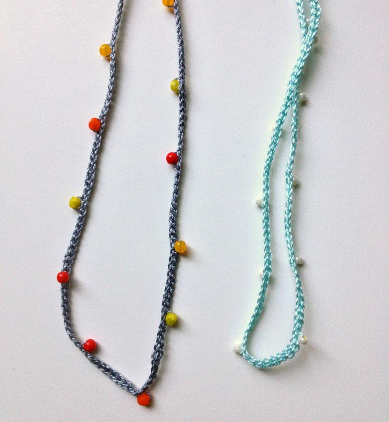 Crochet Necklace Diy Wise Craft Handmade