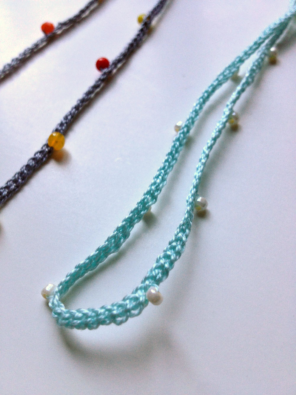 Crochet Necklace Diy Wise Craft Handmade