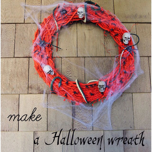 DIY Spooky Halloween Wreath Craft