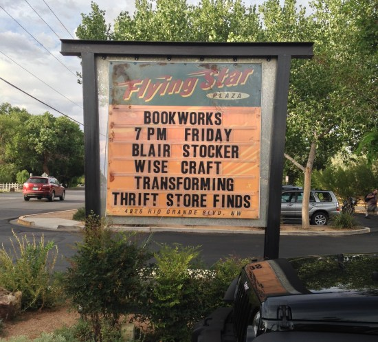 At Bookworks, Albuquerque, NM