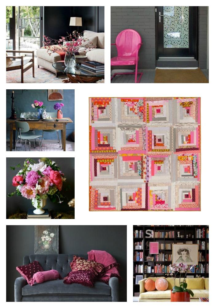 Tipsy Log Cabin Quilt Collage