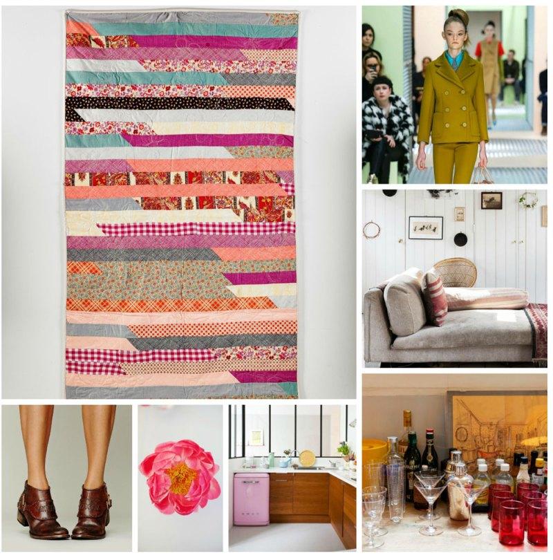 Flower Stripes quilt